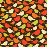 Colorful birds seamless patterns. Royalty Free Stock Photos