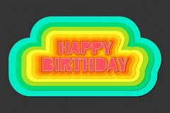 Colorful Birthday Stock Photography