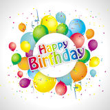 Colorful birthday background Royalty Free Stock Photo