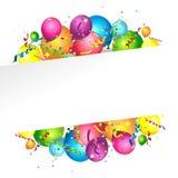 Colorful birthday background Stock Photos