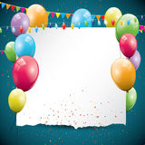 Colorful Birthday background Stock Image