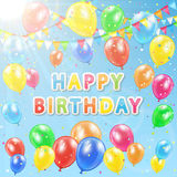 Colorful birthday background Stock Photos