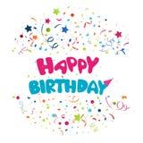 Colorful birthday background Stock Image
