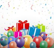 Colorful birthday background Royalty Free Stock Images