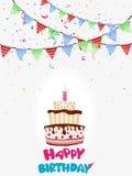 Colorful birthday background Stock Photo