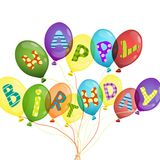 Colorful Birthday Background Stock Photo