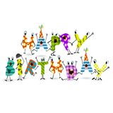 Colorful Birthday Background Stock Images