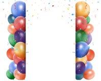 Colorful birthday balloon Stock Photo