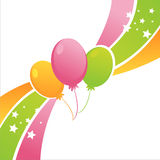 Colorful birthday balloons background Royalty Free Stock Photos