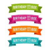 Colorful Birthday box ribbons. Eps10 Vector. Colorful Birthday box ribbons. Eps10 Vector for the next birthday party royalty free illustration
