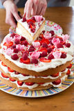 Colorful birthday cake Stock Images