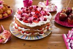 Colorful birthday cake Royalty Free Stock Image