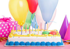 Colorful Birthday Cake Stock Photography