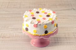 Colorful birthday cake Royalty Free Stock Photos