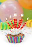 Colorful birthday candels royalty free stock photography