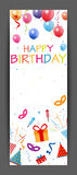 Colorful Birthday candle number Royalty Free Stock Photography