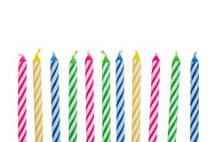 Colorful birthday candles Royalty Free Stock Image