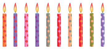 Colorful Birthday Candles Royalty Free Stock Images