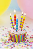 Colorful birthday candles Royalty Free Stock Photography