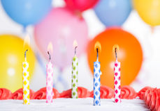 Colorful Birthday Candles Stock Photos