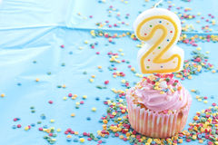Colorful birthday candles Royalty Free Stock Photos