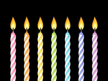 Colorful birthday candles. Stock Photography