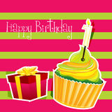 Colorful birthday card Royalty Free Stock Photography