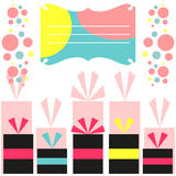 Colorful birthday card Royalty Free Stock Image