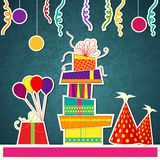 Colorful Birthday Card Royalty Free Stock Photos