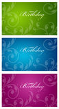 Colorful Birthday Cards Stock Image