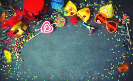 Colorful birthday or carnival background royalty free stock photography