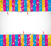 Colorful birthday confetti background Royalty Free Stock Images