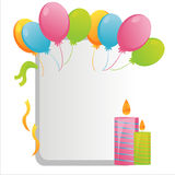 Colorful birthday frame Royalty Free Stock Image