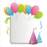 Colorful birthday frame Stock Photos