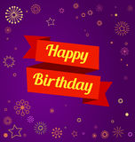 Colorful birthday greeting card Stock Image