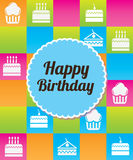 Colorful birthday Stock Images