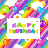 Colorful Birthday Illustration Design Stock Photography