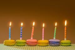 Colorful Birthday Macarons Stock Photo