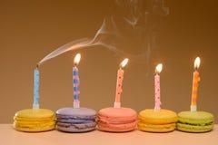 Colorful Birthday macarons Royalty Free Stock Image