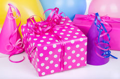 Colorful Birthday Present Stock Images