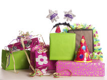 Colorful birthday presents Stock Photography