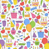 Colorful birthday seamless pattern. Royalty Free Stock Image