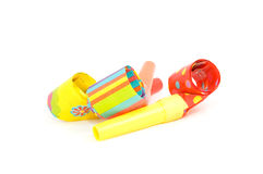 Colorful birthday whistle Royalty Free Stock Image