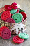 Colorful biscuits buttons Royalty Free Stock Photos
