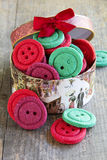 Colorful biscuits buttons Stock Images