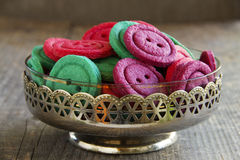 Colorful biscuits buttons Royalty Free Stock Images