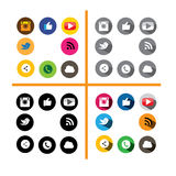 Colorful & black circle buttons set of digital camera, like hand Royalty Free Stock Photo
