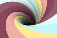 Colorful black hole background Stock Photography