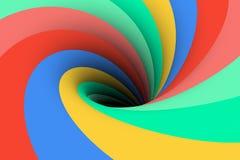 Colorful black hole background Stock Image