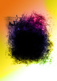 Colorful Black Hole Grudge Abstract Stock Photo
